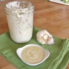 Garlic-Parmesan Salad Dressing - Other great salad dressing recipes visit delectablesalads.com
