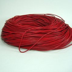 BeadsTreasure 15 Ft of Red Genuine Leather Cord Round 2 mm Diameter. -- Learn more @ http://www.laminatepanel.com/store/beadstreasure-15-ft-of-red-genuine-leather-cord-round-2-mm-diameter/?bc=260616203144