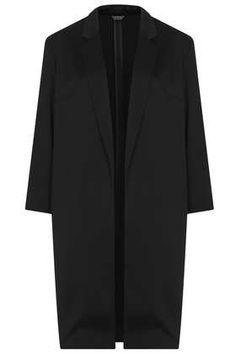 Satin Side Split Coat