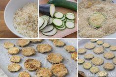 Chips de berenjena y calabacín - elaboración