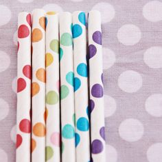 How cute are these polka dot party straws..