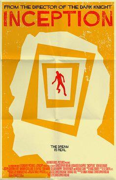 inception poster by markwelser Vintage Movie Posters by Mark Welser Best Movie Posters, Minimal Movie Posters, Movie Poster Art, Poster S, Cinema Posters, Joseph Gordon Levitt, Retro Poster, Vintage Posters, Christopher Nolan