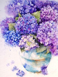 Hydrangea in a pot on Behance