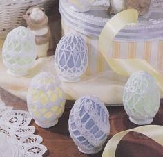 Easter Egg Cover Crochet Patterns 3 Designs
