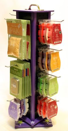 Scentsy Display Peg Board Rack Spinning Rack Black Purple - I like the compact look of this one