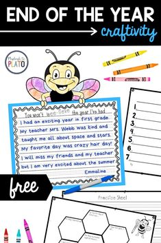 This end of the school year craftivity is a perfect way to reflect on a great school year while practicing some brainstorming and writing skills. Kindergarten and first grade kids will love using these writing templates and graphic organizers and parents will love reading all about their amazing school year! #endoftheschoolyear #writingactivities #graphicorganizer Kindergarten Writing Activities, All About Space, Great Schools, Graphic Organizers, Writing Skills, My Teacher, Love Reading, First Grade, Parents