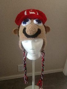 Beanie 19  Mario Inspired Ear Flap Beanie by HandMadeByDz on Etsy, $30.00