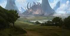 Countryside Bones, Efflam Mercier on ArtStation at https://www.artstation.com/artwork/xemq4