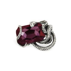 NAIDA. Snake Wrap Ring - Ruby Red