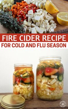 Fire Cider Recipe For Cold and Flu Season - We use Fire Cider as a tonic. We have always been drawn to the flavors of its ingredients and drink small amounts daily starting in the fall and all throughout the winter months. This recipe is an inexpensive, effective way to treat or stave off colds