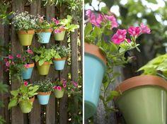 Kunststoff Pflanzkübel platzsparende Idee Balkon Blumen Kräuter