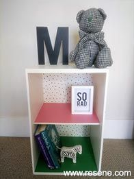 Freshen up an old cubby shelf unit with a fun new look! Cubby Shelves, Cubbies, Shelf, Painting Shelves, Project 11, Community Activities, Project Yourself, Fun Projects, Storage Spaces