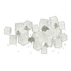 Ljubljana's Cultural Center, fala – Beta Architecture Module Architecture, Cultural Architecture, Architecture Graphics, Architecture Drawings, Architecture Design, Layout Design, Design Art, Concept Diagram, Cultural Center