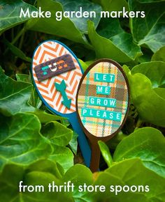 Make garden markers from thrift store spoons