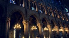 The inside of Notre Dame