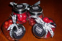 These jars are similar to the ones we ordered as the party favors