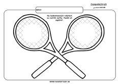 Tenisová raketa - grafomotorika - pracovné listy pre deti Tennis Racket, Avengers, Tennis, Graphic Design, School, The Avengers