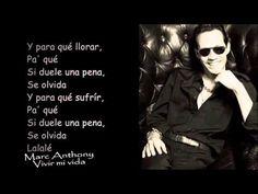 Marc Anthony - Vivir Mi Vida (Letra)