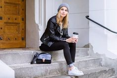 Winter Style #leather #outfit #winterstyle