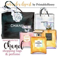 Chanel printable, instant download clipart Coco Chanel perfume... ($5.79) ❤ liked on Polyvore featuring home, home decor, wall art and chanel