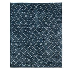 RH's Arlequin Rug - Navy:Multicolor, blended yarns give this harlequin-patterned rug ultra-plush feel and subtly variegated shading. Our rugs are artisan crafted and no two are alike. Given their handwoven nature, slight variations in shading and size are inherent to the design. Imported. 80% viscose, 20% cotton.Additional view shown in Cream/Grey.Deluxe Rug PadLow Profile Rug Pad