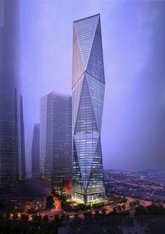 Diagonal Tower | by SOM (Skidmore Owings & Merrill) | Yongsan ( 용산구 ) International Business District,   Seoul ( 서울 ), South Korea ( 대한민국 )