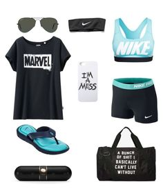 """""""Camp Counselor #2"""" by haleyisbae2020 ❤ liked on Polyvore featuring Uniqlo, NIKE, LAUREN MOSHI, Beats by Dr. Dre and Ray-Ban"""