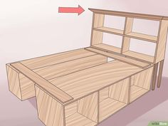 How to Build a Wooden Bed Frame. Do you have a rickety metal bed frame? Have you considered getting a wooden bed frame? Diy Storage Bed, Bed Frame With Storage, Diy Bed Frame, Wooden Bed Frames, Wood Beds, Metal Beds, Pallet Bedframe, Pallet Beds, Diy Platform Bed Frame