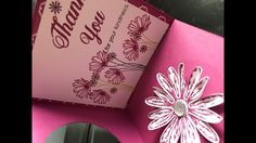 Pop- up card with Stampin'Up Daisy Delight stamp set