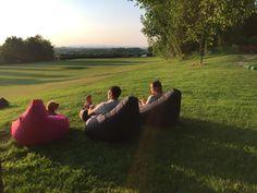 Enjoy the sun in a highback beanbag chair! Childrens Bean Bags, Giant Bean Bags, Beanbag Chair, Outdoor Bean Bag, Bean Bag Sofa, Big Bertha, Enjoying The Sun, Summer Garden, Interior And Exterior
