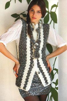 Chaleco Matizado de Crochet Patron Paso a PASO | Patrones Crochet, Manualidades y Reciclado