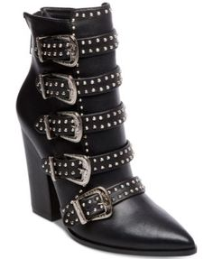 066a5ca2226 Steve Madden Comet Studded Western Booties Shoes - Boots - Macy s