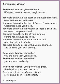 A poem about women and womanhhood
