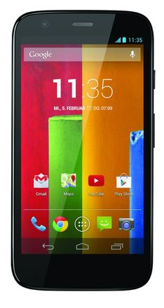 Motorola Moto G Smartphone (11.4 cm (4.5 inch) HD display, Qualcomm processor, 8GB, Android 4.3 OS, 5 MP camera, including power supply) black