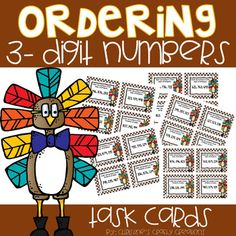 24 Ordering 3-Digit Numbers Task Cards- Fall ThemedThese task cards are great for math centers, whole group activities, small group instruction,and independent work.Answer key and student recording sheet included.If interested, I have a task card Bundle at a discounted price:Fall Task Card BundleSub...