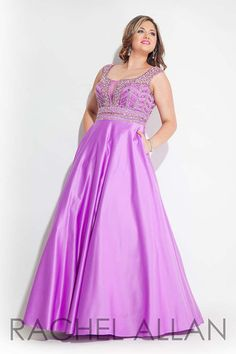 Rachel Allan Curves 7436 Lilac Prom 2016 Plus_Size