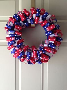 Easy Patriotic Wreaths for Labor Day Holiday