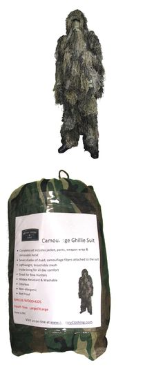Ghillie Suits 177870: Military Uniform Supply Kids Camouflage Ghillie Suit - Woodland Camo -> BUY IT NOW ONLY: $42.5 on eBay!