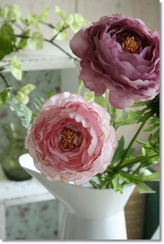 ラナンキュラスソネット(ピンクパープルエッジ)/造花アートフラワーフェイクグリーン【定形外対応可能】