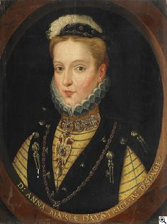 Frans Pourbus - Portrait of Anne of Austria and Spain (1549-1580)