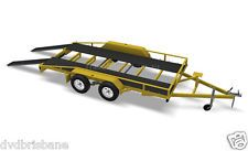 DIY Heavy Duty Tandem Flatbed CAR CARRIER Trailer Plans