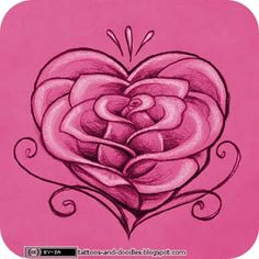 Tattoos and doodles: Rose heart
