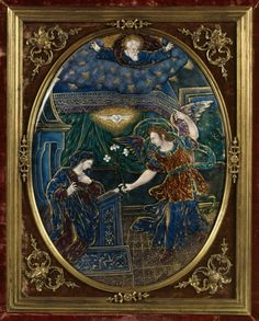 Suzanne de Court, Oval Plaque with the Annunciation, ca. 1600. France