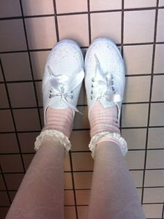 my feet are all dolled up today. nobody in the offices at work seem to enjoy my feeble attempts at fairy-kei fashion Nicole Dollanganger, Melanie Martinez, Cry Baby, Keds, Music, Pink, Photography, Offices, Aurora