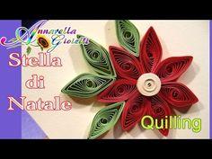 Tutorial Stella di Natale - Tecnica Quilling - - YouTube