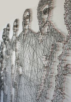 Pamela Campagna and husband Thomas Scheiderbauer -  nail and thread art. find your inspiration visiting www.i-mesh.eu  and click I LIKE on FACEBOOK: https://www.facebook.com/pages/I-MESH/633220033370693