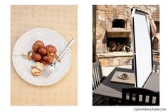 food photography in outdoor lighting