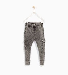Image 2 of PLUSH CARGO TROUSERS from Zara