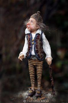 One of a kind miniature artdoll 1:12th by Tatjana Raum dollhouse size by chopoli on Etsy https://www.etsy.com/listing/181494789/one-of-a-kind-miniature-artdoll-112th-by