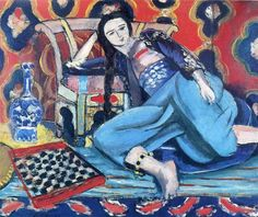 Odalisque with a Turkish Chair, 1928 by Henri Matisse. Expressionism, Orientalism. genre painting. Musée National d'Art Moderne, Centre Georges Pompidou, Paris, France